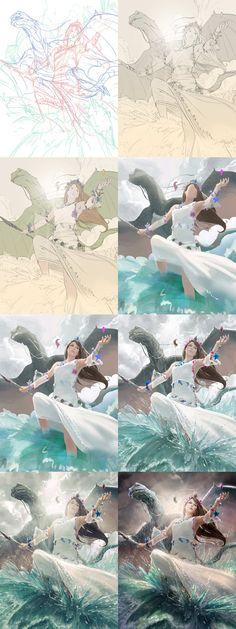 Princess of Atlantis 2 - Steps by *algenpfleger on deviantART