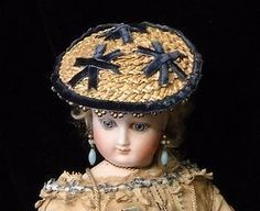 French Fashion Straw Hat - Finishing Touches #dollshopsunited