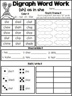 *FREEBIE* Interactive Word Work: Digraphs {sh} - This little interactive FREEBIE is perfect for teaching or reinforcing the sh digraph at the beginning of a word