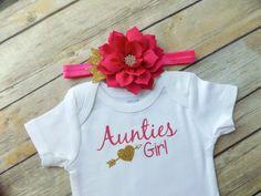 aunt bodysuit I love my aunt aunties girl aunt shirt baby shower gift niece gift…