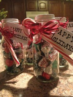 Fill a Starbucks Frappuccino Glass with candy for a nice holiday gift! #StarbucksHack