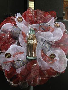 Coca-Cola mesh wreath