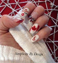 Oh Darlene! Nail Polish Designs, Cute Nail Designs, Happy Canada Day, Nail Art Hacks, Nails Magazine, Nail Artist, Pedi, Beauty Nails, Cute Nails