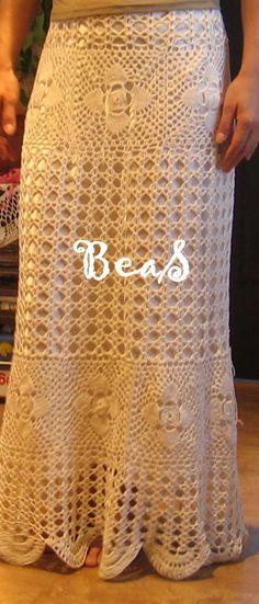 Amazing crochet skirt in folk style by CreativeBea on Etsy, zł599.00