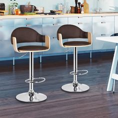 Found it at AllModern - Adjustable Height Swivel Bar Stool with Cushion Contemporary Bar, Rustic Kitchen, Furniture, Home Decor Kitchen, Modern House, Swivel Bar Stools, Home Decor, Stool, Rustic Kitchen Cabinets