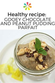 Chocolate & Peanut Pudding Parfait: Once the parfait has set in the freezer, top each jar with the toasted peanut mixture. Serve! #parfait #everydayhealth | everydayhealth.com