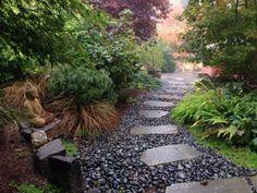 zen garden with Dekofiguren beautify-stone path with stone-gravel-gravel