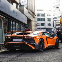 Lamborghini Aventador Super Veloce Coupe painted in Arancio Atlas  Photo taken by: @awhesorks on Instagram