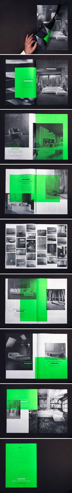 Fabrica—tion / Joshua Olsthoorn- interesting for portfolio. Maybe green is green vellum inserts?