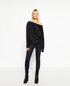 Image 1 of ASYMMETRIC SWEATER from Zara