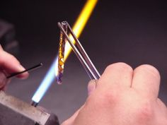 """How to make complext twisted cane and form it into a lampworked """"ring"""". Visual learning by Michael """"FiG"""" Mangiafico"""