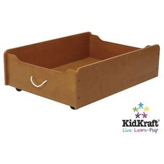 Train Table Trundle-wooden drawer on wheels; could use for storage under Belle's bed; from amazon.com $50.46
