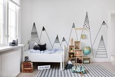 14 Wall Decor Ideas Perfect For Your Kid's Room: Minimalist Print
