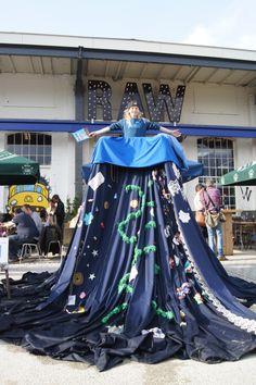 Blauwslootzwerfjurk FOTO'S Festival Mundial #mundial16 #blauwtilburg #communityArt