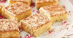 Ljuvliga rutor med päronfyllning och smak av ingefära. Toppa med en krämig glasyr på färskost och lime!