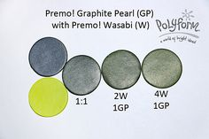 Graphite Pearl with Wasabi ~ Polymer Clay Color Mix