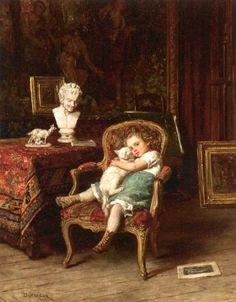 Théophile-Emmanuel Duverger (1821–1901,French) - Best friends