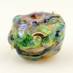 Handmade Hollow Lampwork Glass Bead Focal by StoneDesignsbySheila
