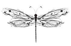libellule de dessin abstrait — Vecteur #29235293