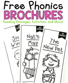 Learn to teach phonics with these FREE phonics reading passages! Easy to prep and are engaging for all early readers. Phonics Reading, Teaching Phonics, Phonics Activities, Kindergarten Reading, Reading Activities, Teaching Reading, Reading Comprehension, Guided Reading, Kindergarten Phonics