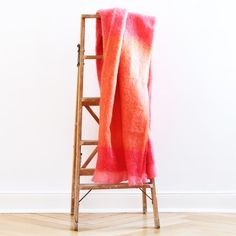 Coral Mohair Blanket by Hinterveld