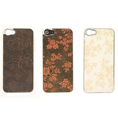 $11.99 (21% Off) Premium Flower Styled Leather Back iPhone 5 Case - Chrome bumper iPhone 5 case with premium flower styled leather back.