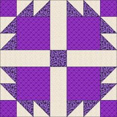 I would do this pattern with gray where the cream is and black where the bright purple is.