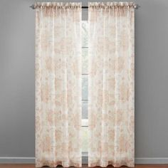 One of my favorite discoveries at ChristmasTreeShops.com: Paisley Flower Blossom Print Window Curtains, Set of 2