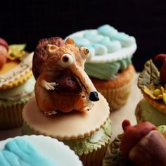 """""""Ice Age"""" cupcakes frosted with Swiss meringue buttercream"""