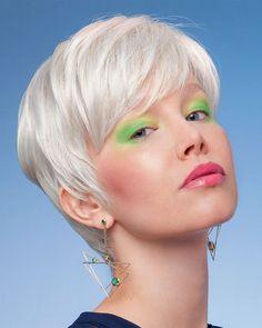 Ultra kurze Frisuren + Pixie Haarschnitte & Haarfarbe Ideen