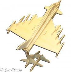 Puzzle 3D din lemn - avion de vanatoare m2
