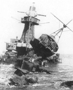 The wreck of the Admiral Graf Spee.
