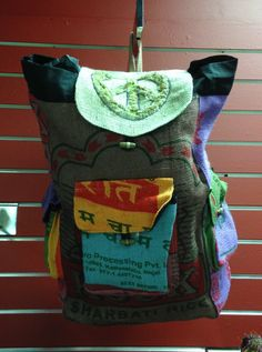 Peace backpack available at Charmed in Lynchburg, VA (434) 610-9124