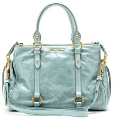 Miu Miu Glazed Leather Tote @Lyst