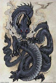 Эскиз черного дракона