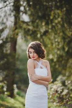 Touch of Spring Spring Day, White Dress, Touch, Bride, Wedding Dresses, Hair, Photography, Beautiful, Fashion