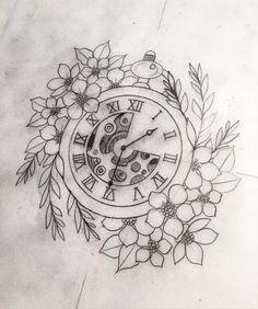 watercolor clock tattoo - Google zoeken