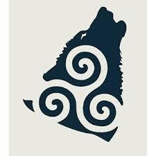 Resultado de imagen para triskeles con lobo