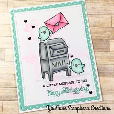 Lawn Fawn | Love Letters | ValentineCard | By Scrapbena Creations on YouTube
