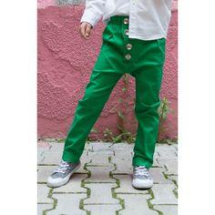 Pantaloni verzi pentru copii