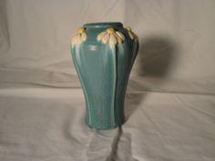 Ephraim Faience Pottery Cerf 02 2002 Chamomile Vase Retired 1 of 49 | eBay