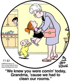 Created by Bil Keane and based loosely on his life, Family Circus is about the challenges and adventures of a suburban family of six. Funny Cartoons, Funny Comics, Funny Jokes, Hilarious, Family Circle, Love My Family, Family Circus Cartoon, Grandma Quotes, Grandma Memes