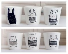 New in the shop Sobigraphie: Mug hamster and rabbit cup ♥