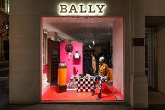 Новая витрина флагманского бутика Bally в Лондоне