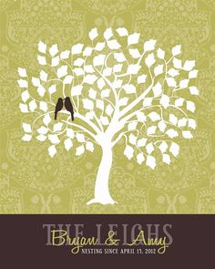 Wedding Guest Book Signature Tree  Custom Sage by InvitingMoments, $43.00