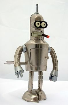 Bender...love him...totally lovable evil little guy