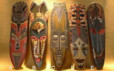 Resultado de imagen para máscaras africanas antiguas African Masks, African Art, Ceramic Mask, Wood Games, Gourds, Animal Kingdom, Inspiration, Brooches, Curriculum