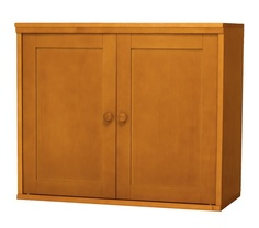 Cameron Cabinet and Open Base in Simply White for storing girls' belongings.