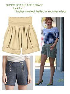apple shape shorts