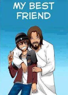 My Best Friend by GabrielRaven on DeviantArt Jesus Is My Friend, Jesus Is Life, Jesus Art, God Jesus, Jesus Cartoon, Bible Cartoon, Jesus Drawings, Image Jesus, Jesus Wallpaper